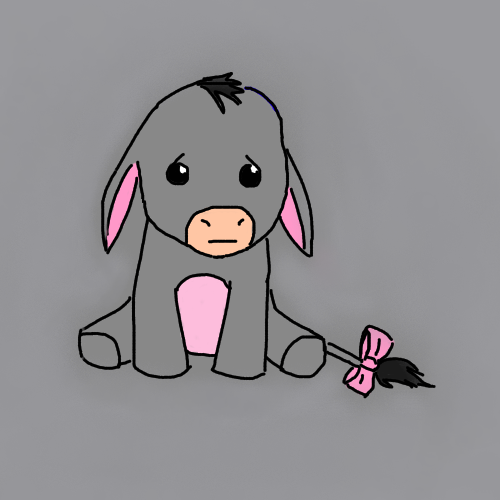 how to draw baby eeyore