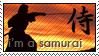 I'm a Samurai stamp