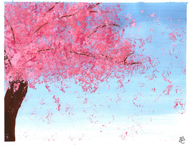 Sakura Tree with Acrylics by Gezusfreek