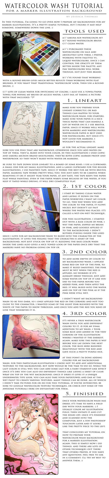 Watercolor Wash Background Tutorial by Gezusfreek