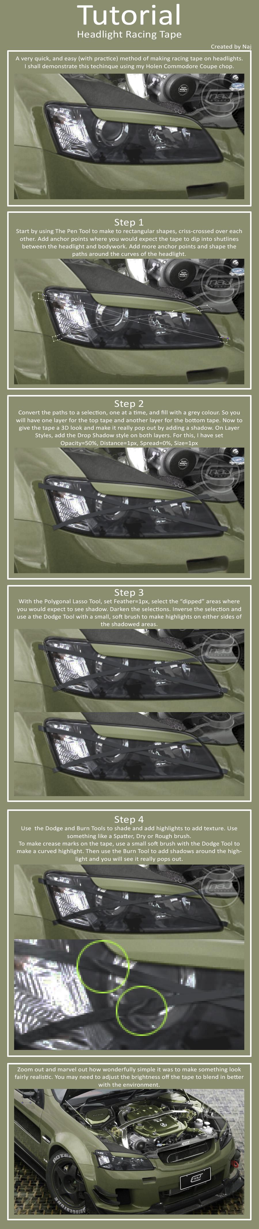 Racing Headlight Tape Tutorial