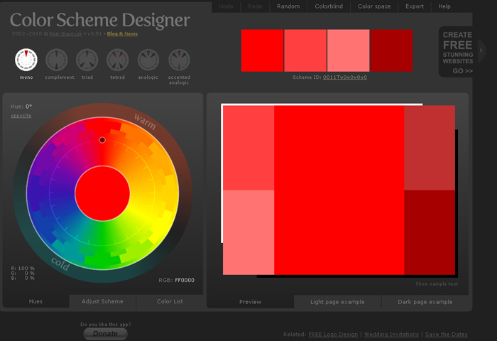 Color Scheme Designer by phoenixleo