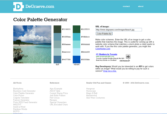 Color palette generator by phoenixleo