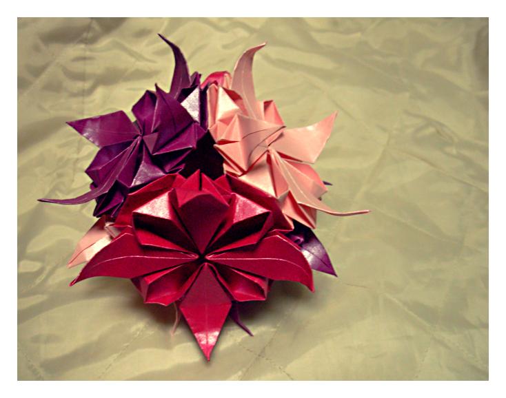 Kusudama de las flores by llifi-kei