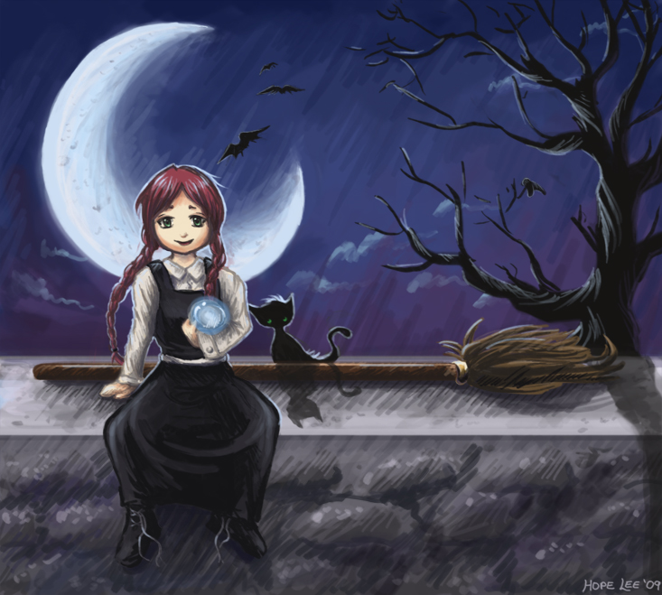 "Фанарт по ""Самой плохой ведьме"" - Страница 3 The_worst_witch_by_llifi_kei"
