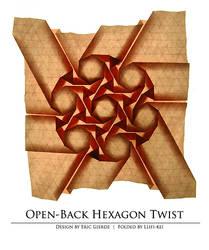 No. 7 Open-back hexagon twist