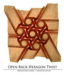 No. 7 Open-back hexagon twist