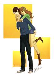 -C- Two Lovebirds by MsJillyJelly