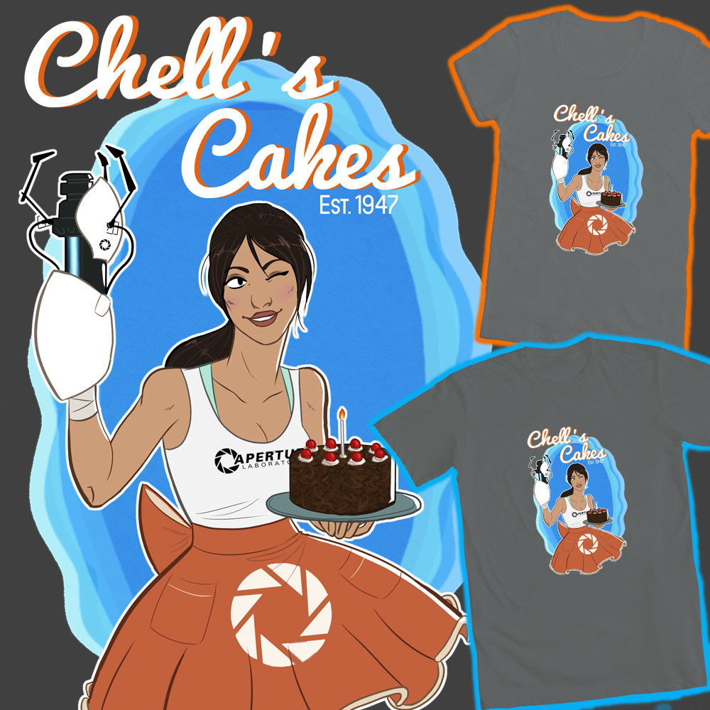-CE- Chell's Cakes by MsJillyJelly