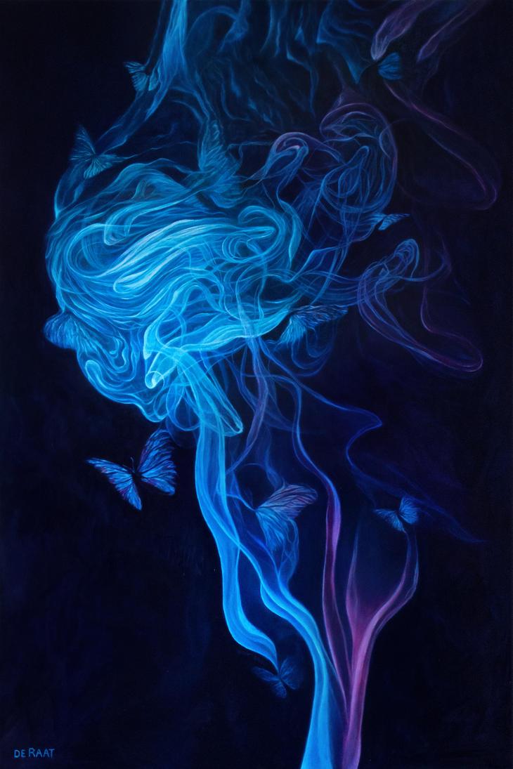 Butterflies and smoke by deRaat