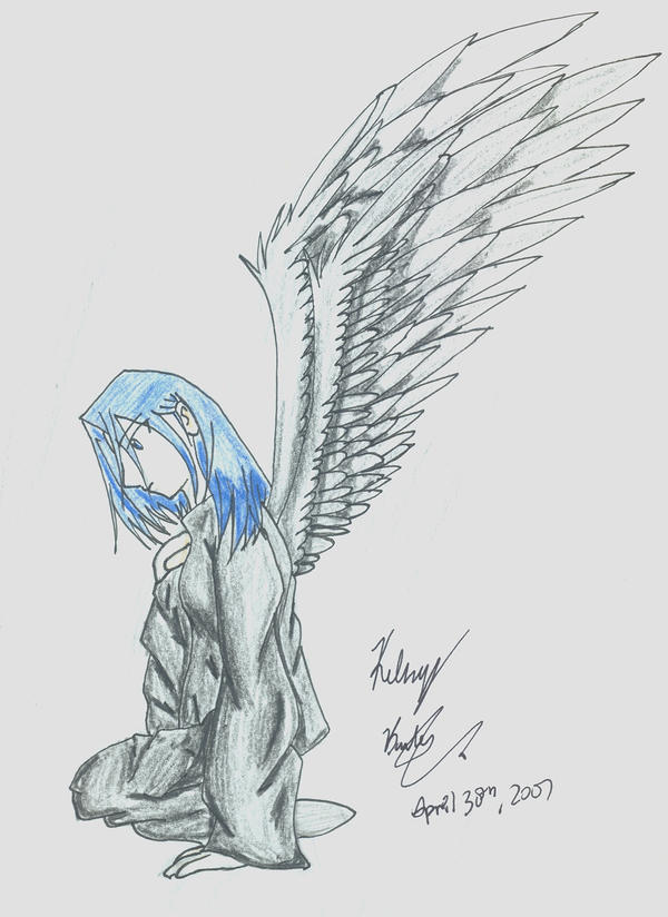 depressed angel drawings - photo #15