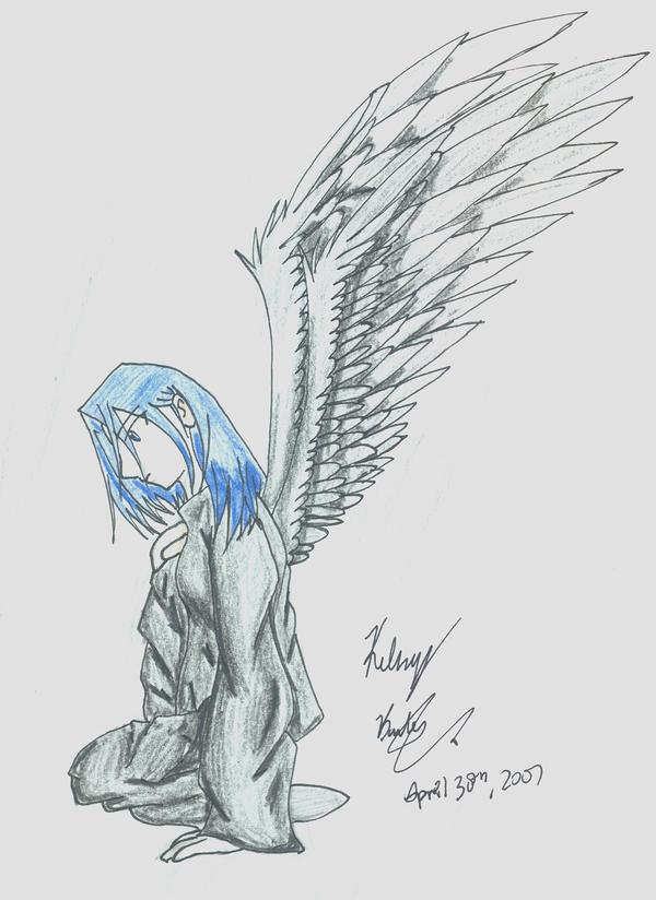 depressed angel drawings - photo #15