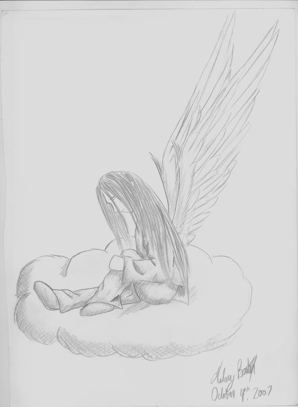 depressed angel drawings - photo #35