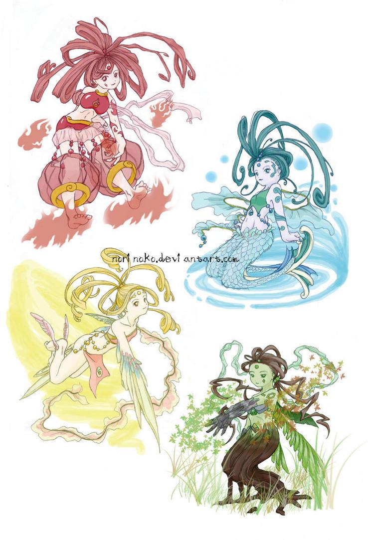 Elementals by norinoko