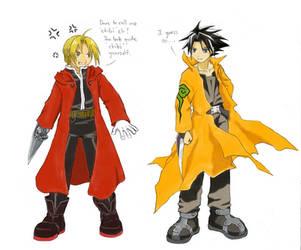 Ed vs Jing by norinoko