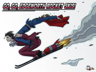 Go, Go, Edgeworth Rocket Skis! by norinoko