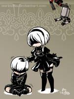2B petting 9S by norinoko
