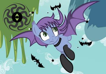MLP OC: Whirlwind Major Batpony version by Saillard