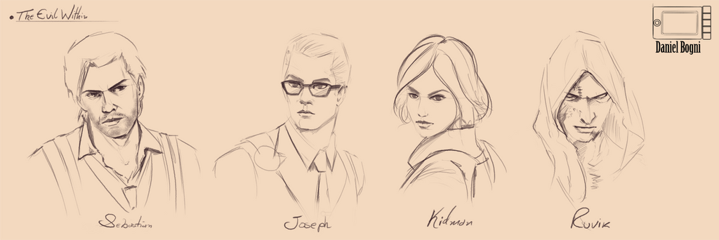 Skecth - 03 - The Evil Within Cast by danielbogni