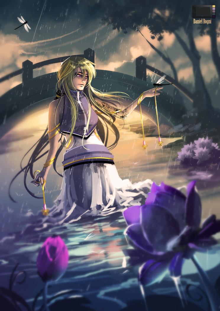 Commission - Rain by danielbogni
