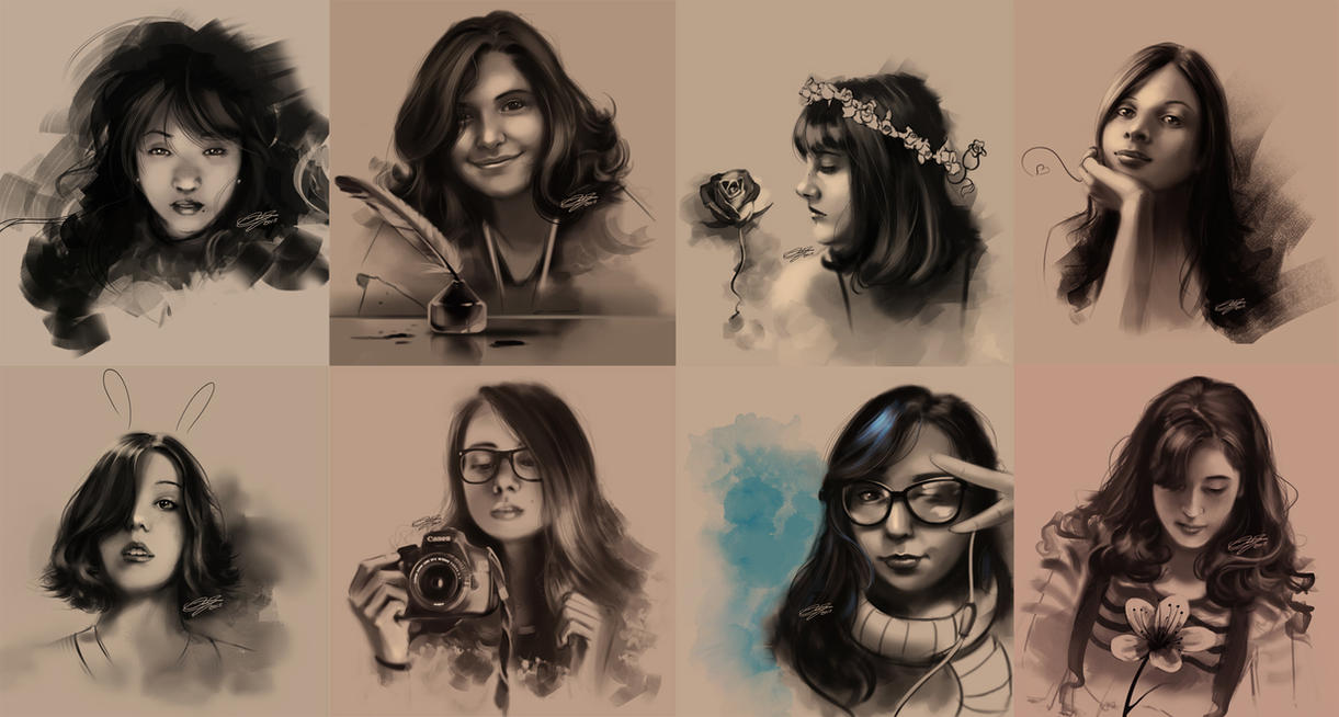 Sketch - Some friends by danielbogni