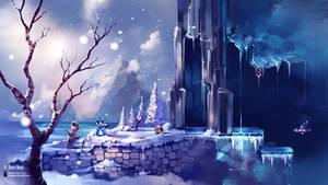 Megaman X - Chill Penguim Stage - Fanart