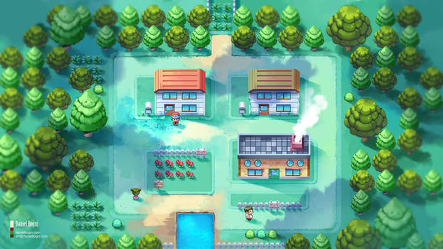 Pokemon FireRed - GBA - Fanart