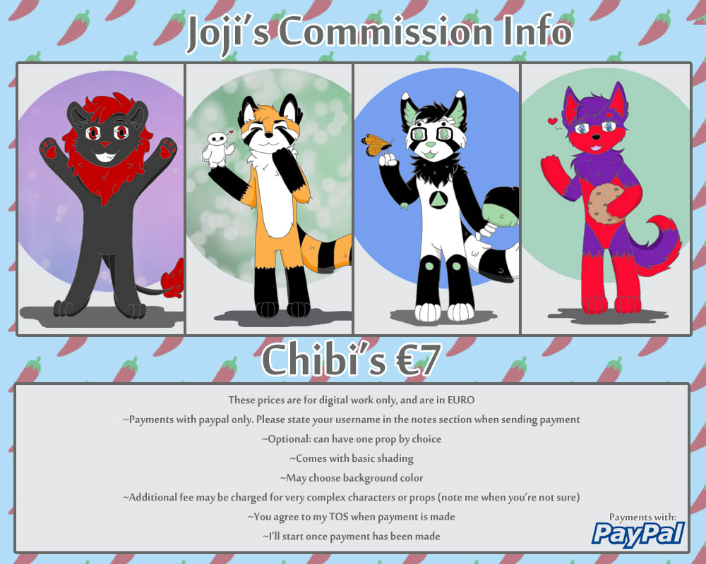 Chibi commissions by Kingpoof