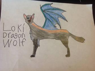 Lok Dragonwolf by bluedragon27