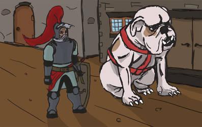 Paladin Knight and Dog