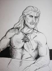 Geralt of Rivia sketch by LaguzLake