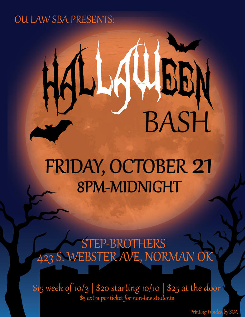 HalLAWeen Bash - Graphic Design Poster by blackxCanary
