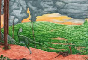 The Land of Monolophosaurus