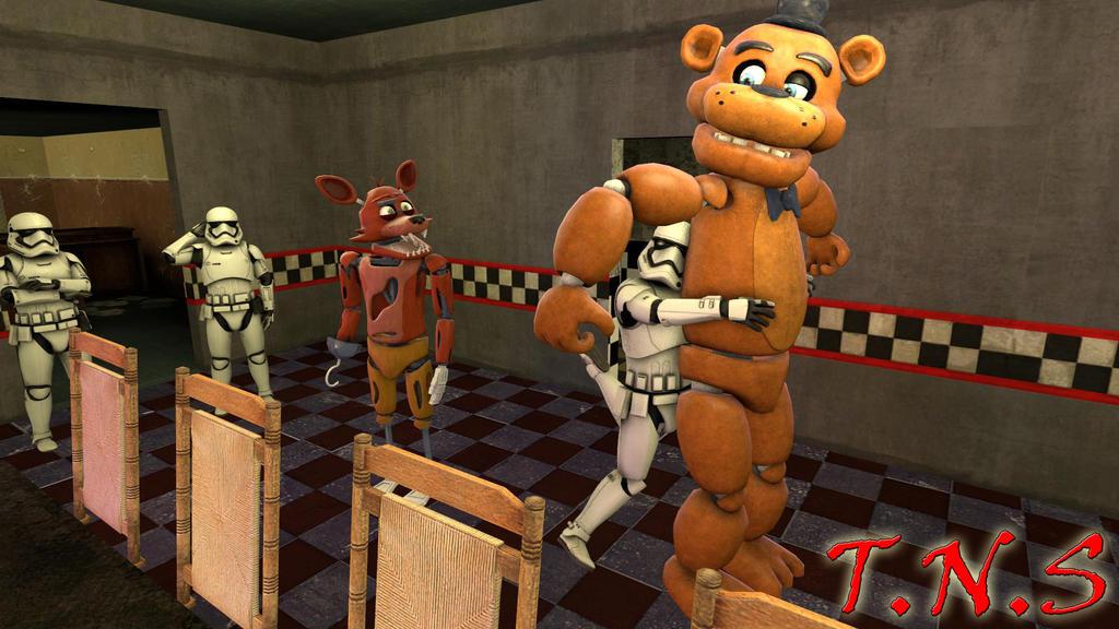 (SFM FNAF+SW)Stormtrooper At Freddy's By TheNightmareSimon