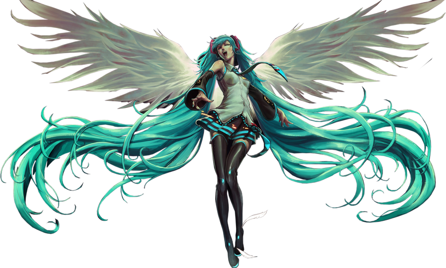Hatsune Miku render by OriginalBoss