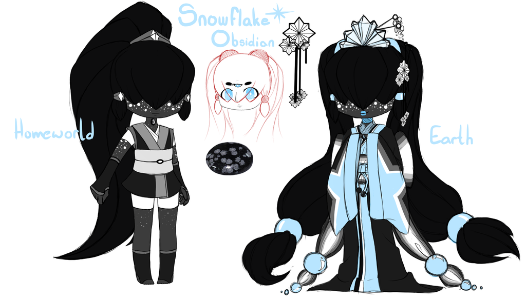 snowflake obsidian gemsona by - photo #1
