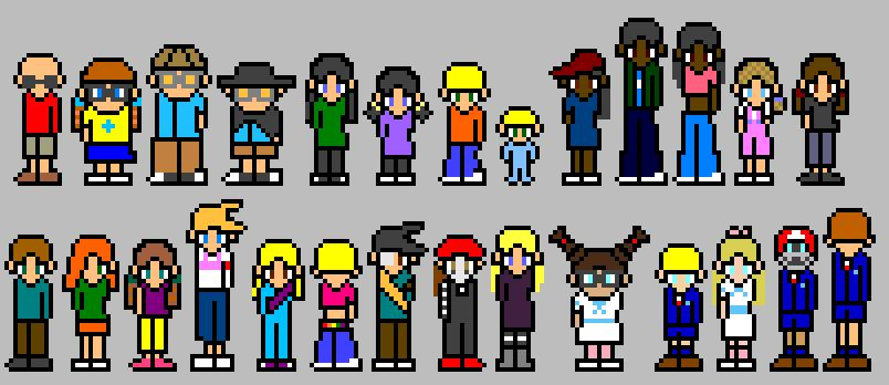 Kids Next Door sprites by ThuhJesheekuh