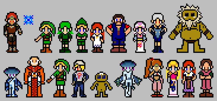 Ocarina Of Time Sprites By Thuhjesheekuh On Deviantart