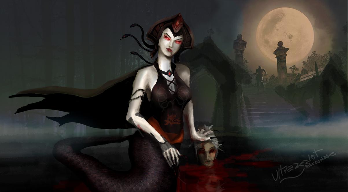 Vampire Cassiopeia [LOL Skin Idea] by ULTRAZEALOt