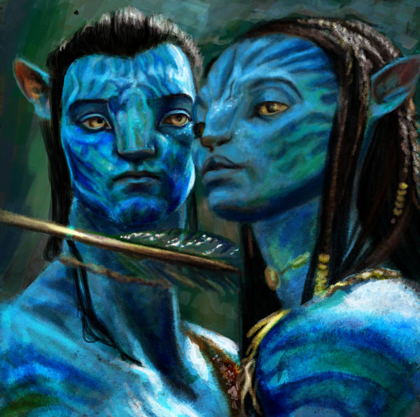 Avatar: Jake and Neytiri by ninjaa-cake