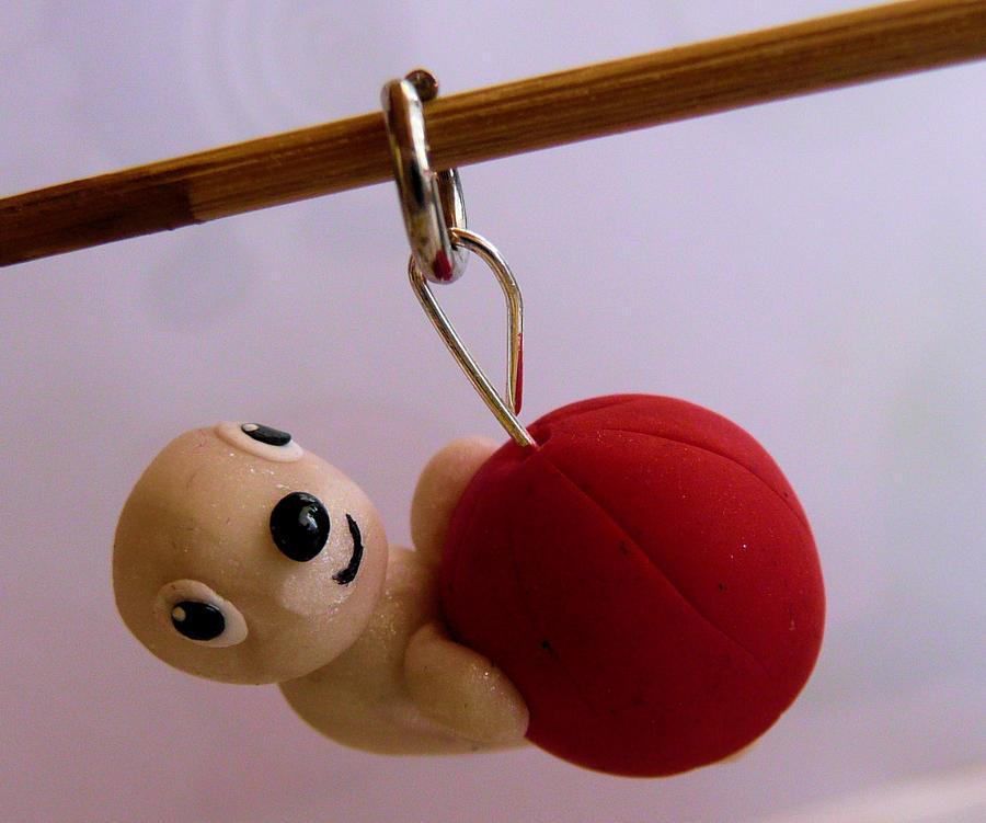 FIMO baby seal charm by ugnip