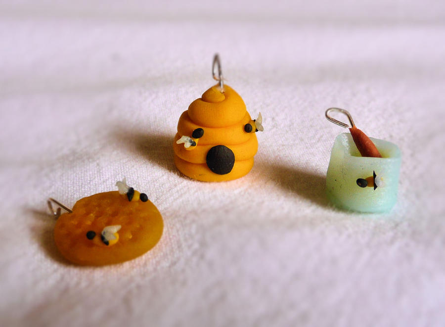 summer honey charms FIMO by ugnip