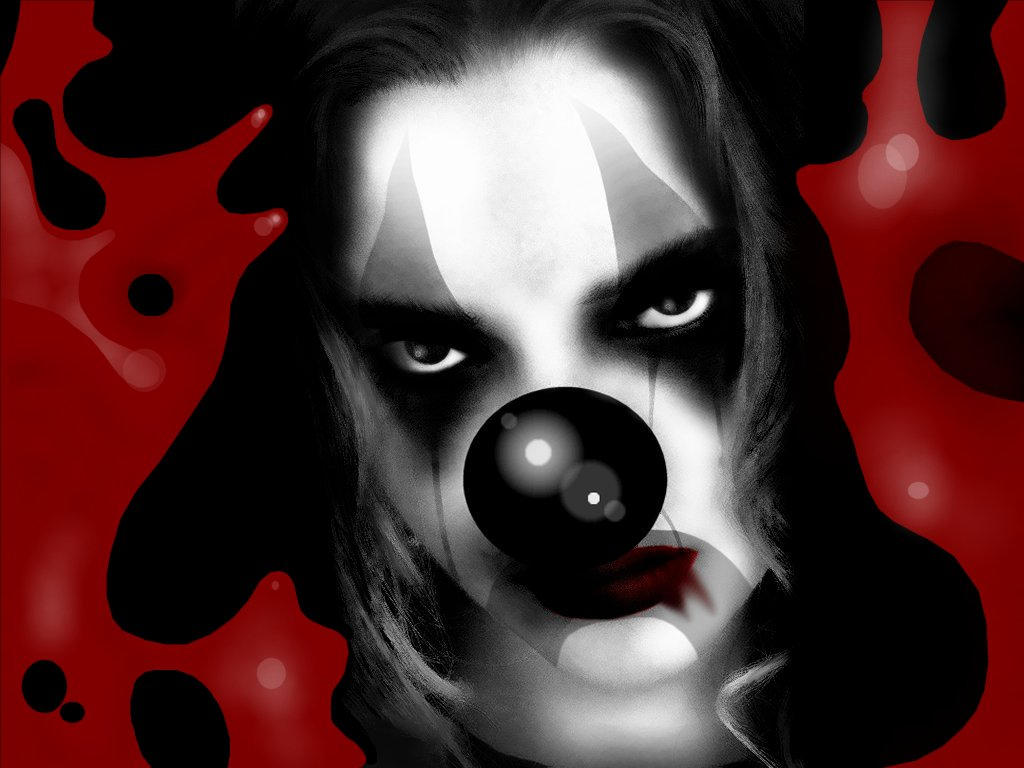 blood stained girl clown - Palya�olar ..