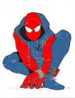 Spider man line art