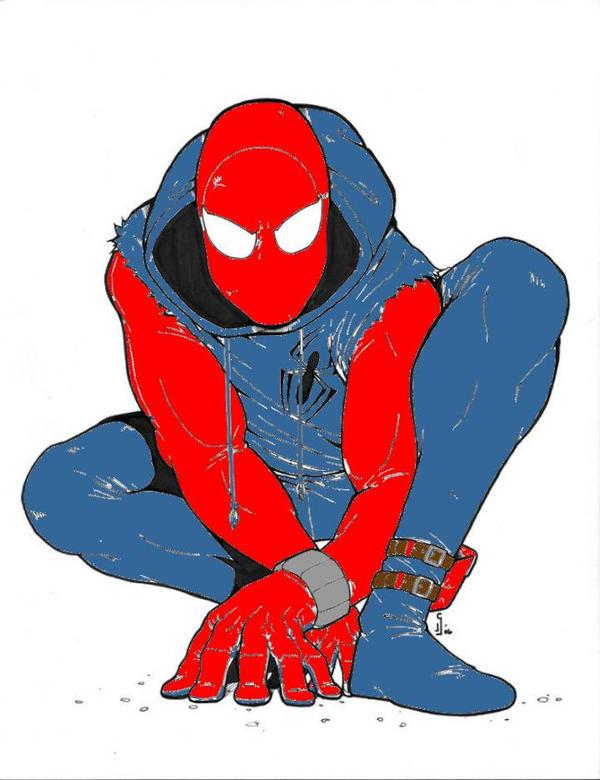 Spider man line art  by GhostR3x1