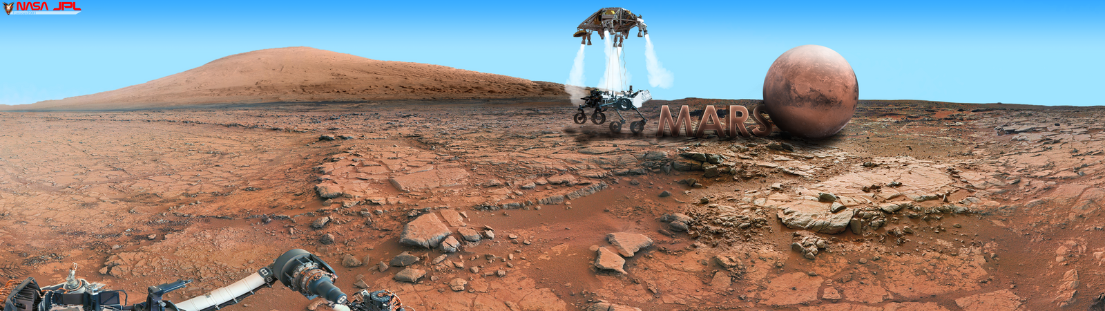 curiosity rover on mars background - photo #10