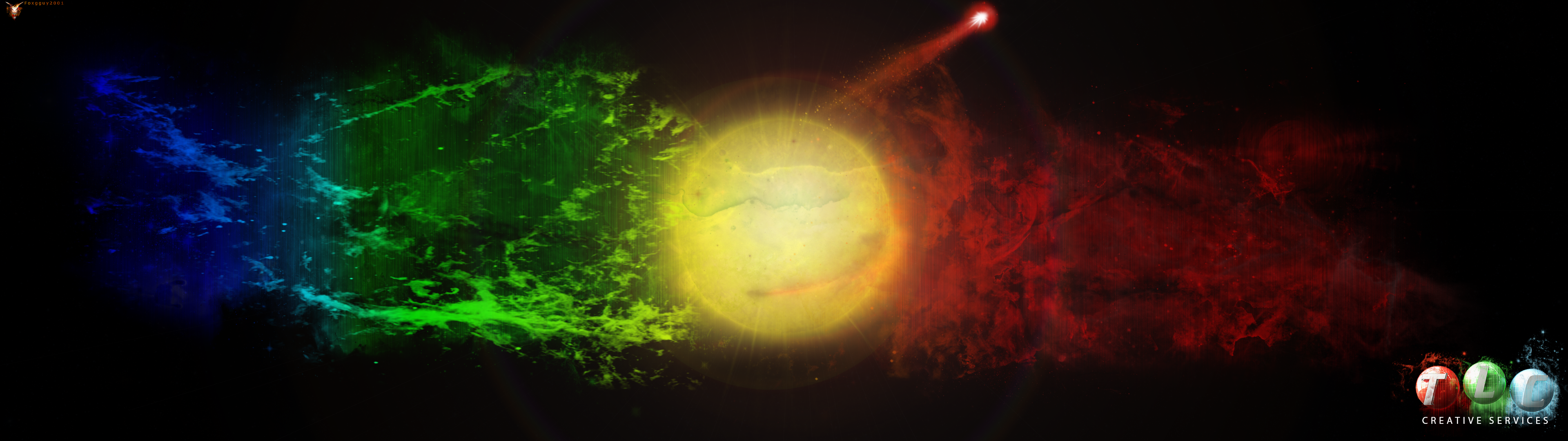 Space Spectrum Dual Monitor Wallpaper By Foxgguy2001 On