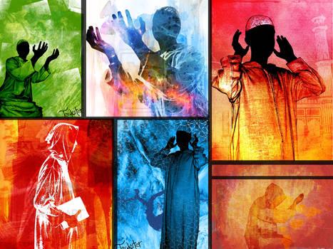 Teakster wallpaper collage