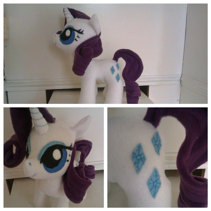 Pony Plushies - Page 2 Rarity_by_arualsti-d5jmoc3