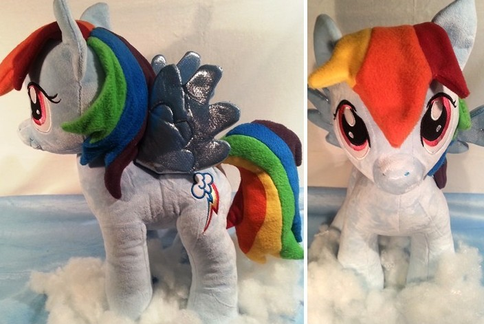 Pony Plushies - Page 4 Re_haired_build_a_bear_rainbow_dash_by_arualsti-d610jnd